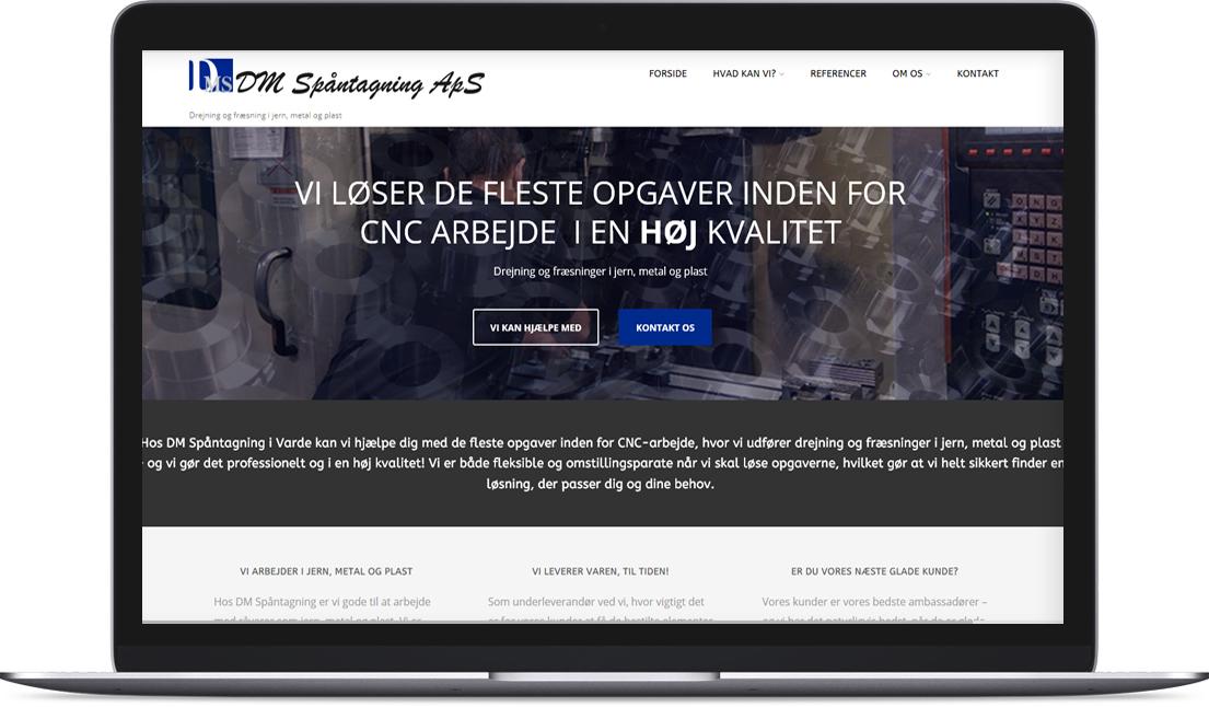 Hjemmeside lavet til DM Spåntagning af Creative Signature