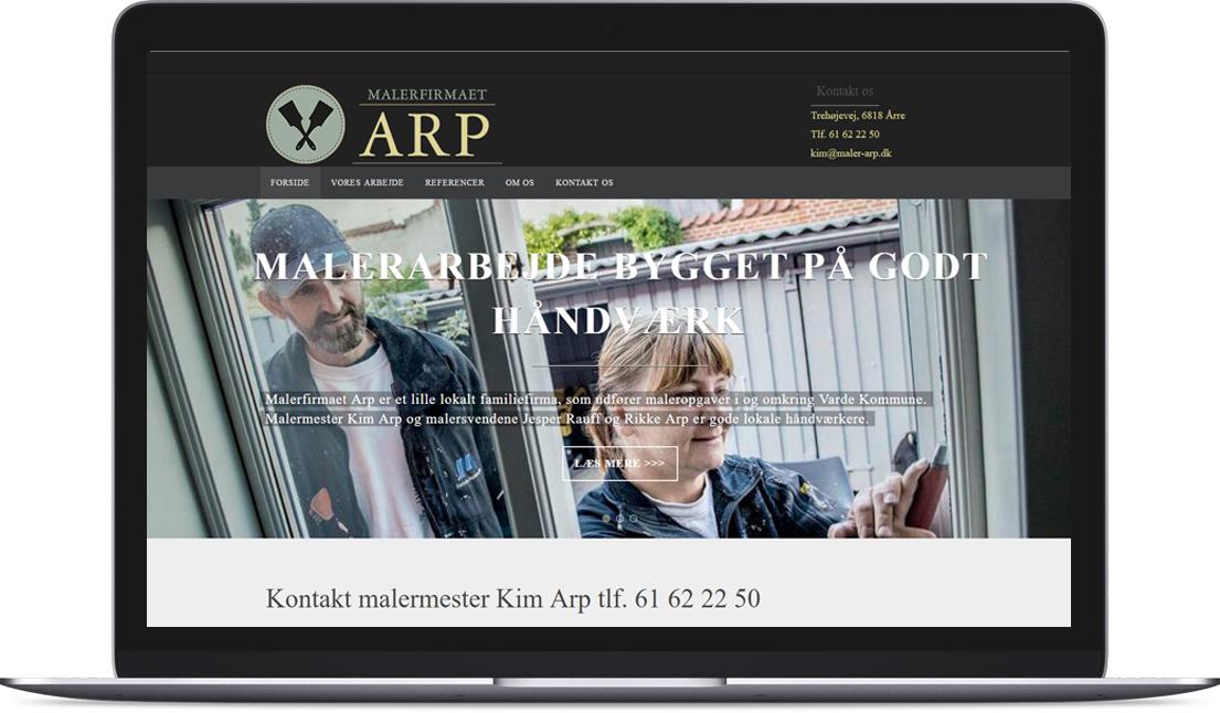 Malerfirmaet Arp bruger Creative Signature som freelance marketingafdeling