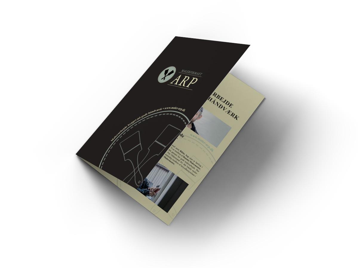Præsentationsmateriale lavet for Malerfirmaet Arp