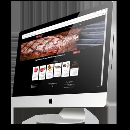 Hjemmeside lavet for Restaurant Muuh i Rækker Mølle Bryghus