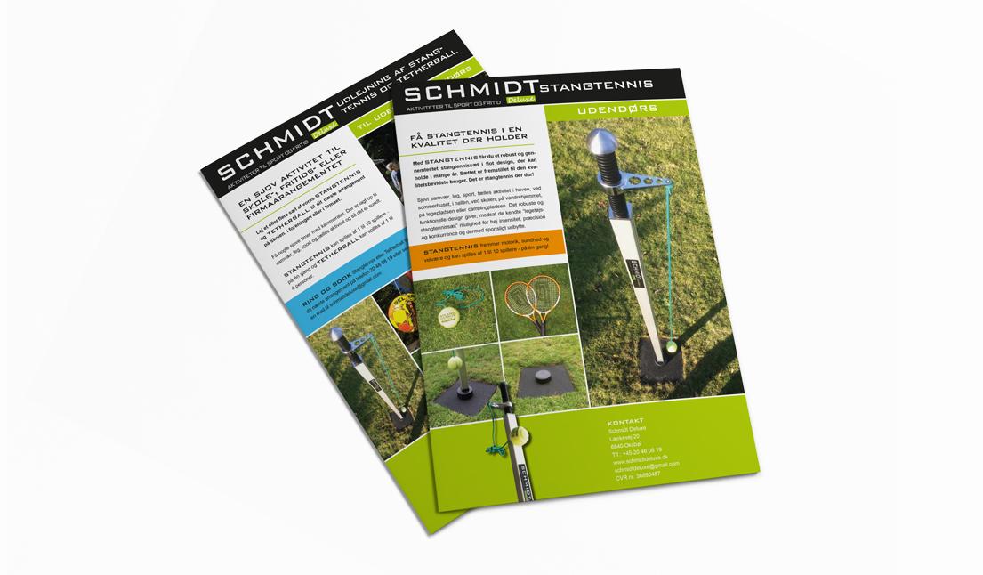 Brochuremateriale lavet for Schmidt Deluxe