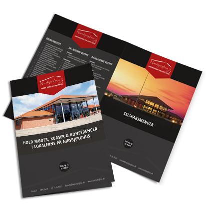 Brochurer til Næsbjerghus lavet af Creative Signature