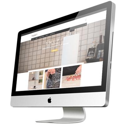 Hjemmeside med webshop lavet til Snupit af Creative Signature